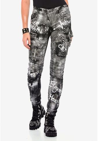 Cipo & Baxx Straight-Jeans, mit cooler Waschung kaufen