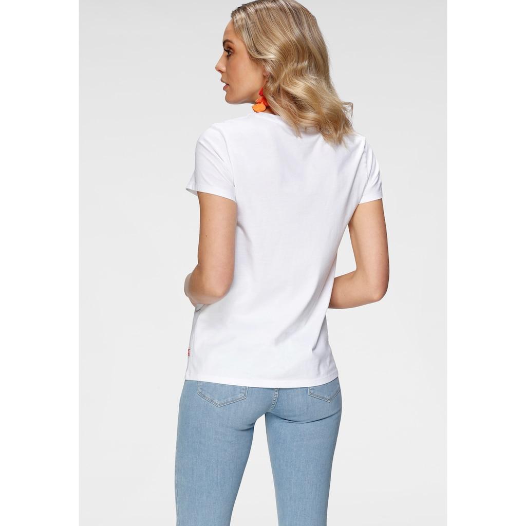 Levi's® T-Shirt »The Perfect Tee«, mit floralem Markenlogo-Print