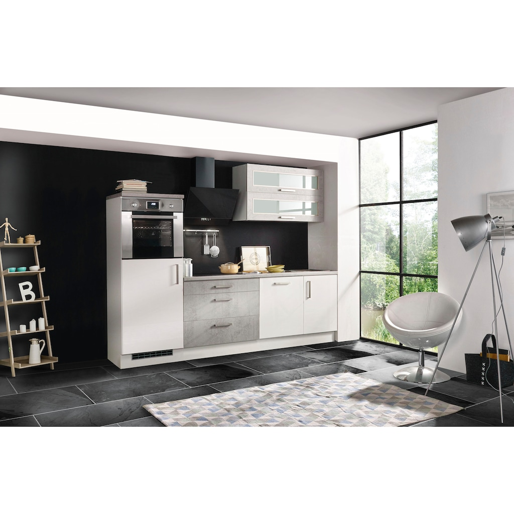 RESPEKTA Küchenzeile »Lier«, mit E-Geräten, Breite 260 cm