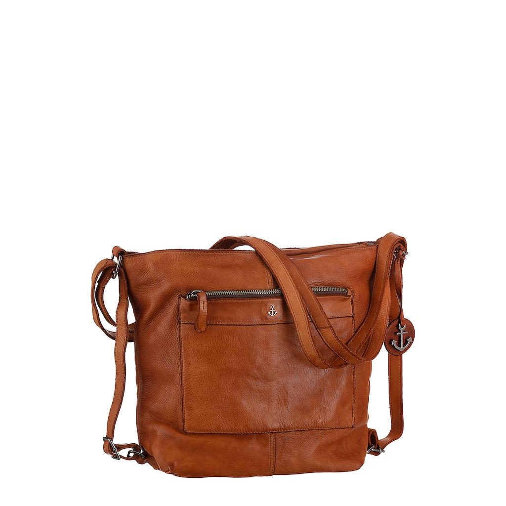 HARBOUR 2nd Cityrucksack »B3.9113 al-Cayenne«, aus Leder als Rucksack oder als Umhängetasche tragbar