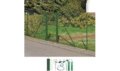 GAH Alberts Maschendrahtzaun, 125 cm hoch, 15 m, grün beschichtet, mit Bodenhülsen kaufen