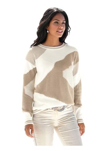 Amy Vermont Rundhalspullover, mit grafischem Muster kaufen