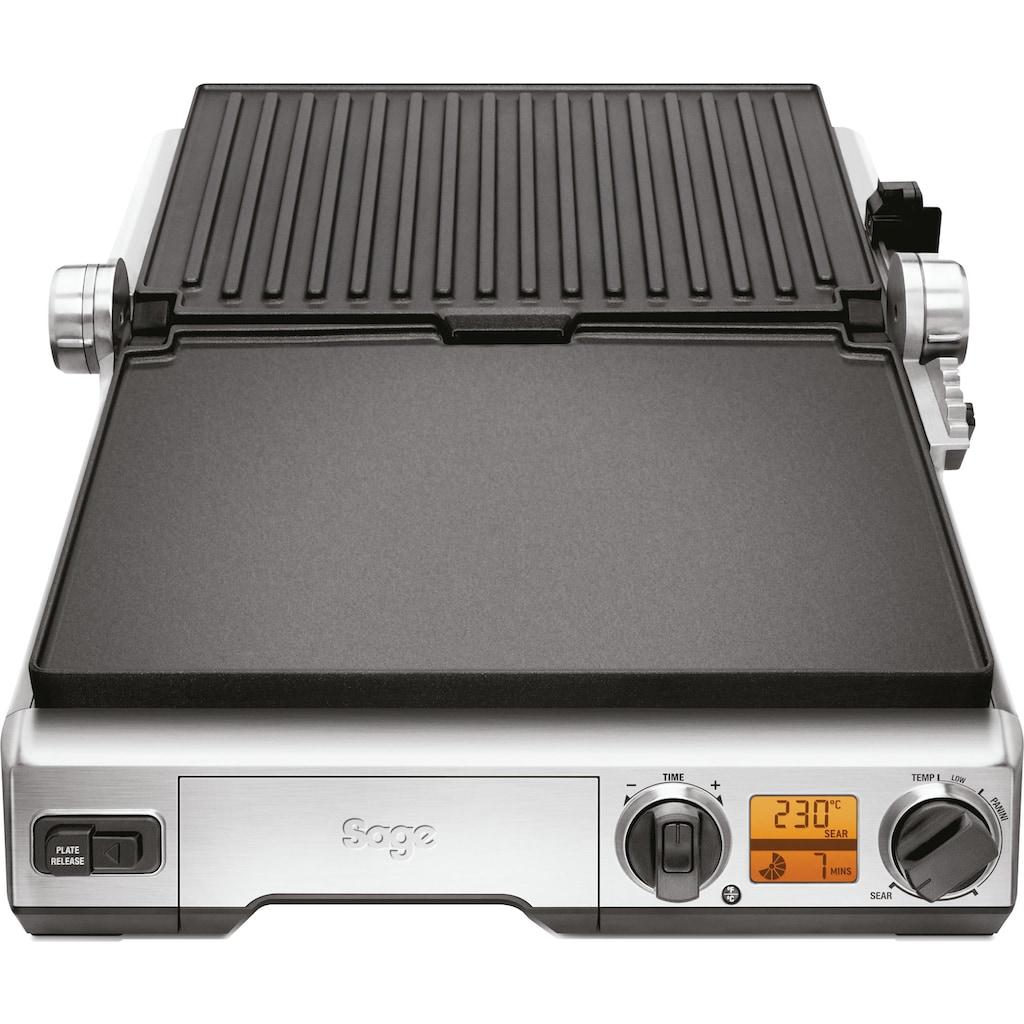 Sage Kontaktgrill »the Smart Grill Pro, SGR840«, 2400 W, antihaftbeschichtete und geneigte Grillfläche