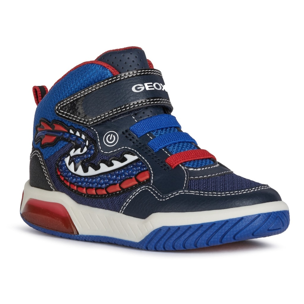 Geox Kids Sneaker »Blinkschuh INEK BOY«, mit bunter Laufsohle