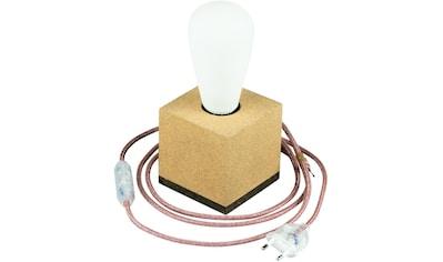 SEGULA Tischleuchte »Tischlampe Korkwürfel, 2m Textilkabel marsala«, E27, Mit Schalter kaufen