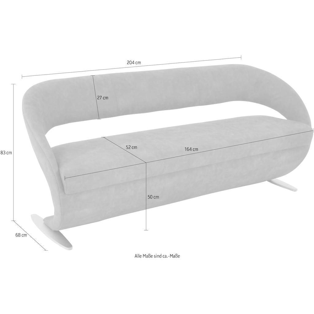 K+W Komfort & Wohnen Polsterbank »Wave«, in geschwungener Optik mit Metallkufe
