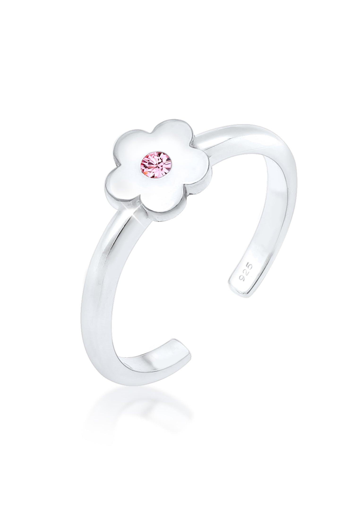 Elli Fingerring »Kinder Blume Swarovski® Krista...