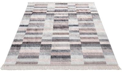 Sehrazat Teppich »Caimas 2951«, rechteckig, 5 mm Höhe, waschbar, weiche Microfaser, Wohnzimmer kaufen