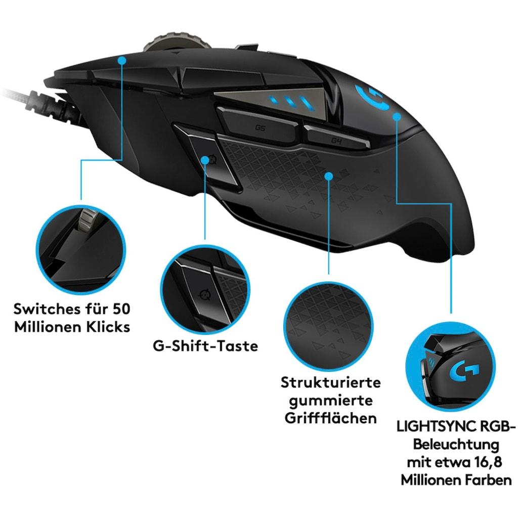 Logitech G Gaming-Maus »G502 HERO High Performance«, kabelgebunden