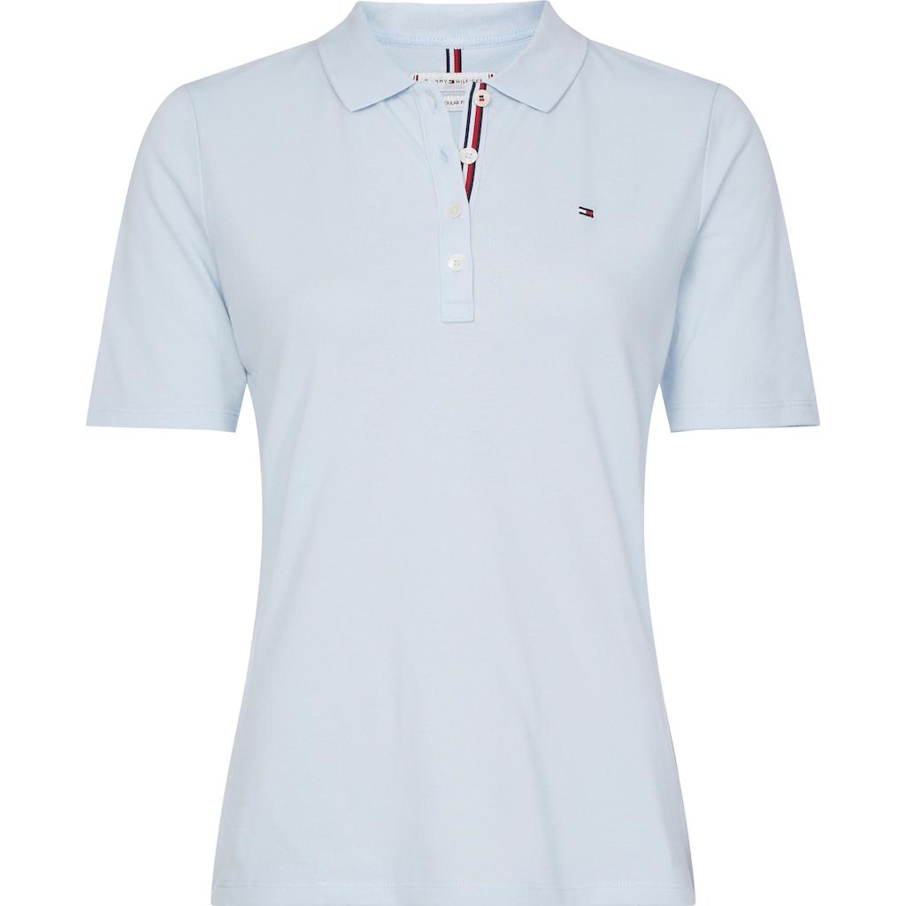 Tommy Hilfiger Curve Poloshirt »TH ESSENTIAL REG POLO SS CURVE«, mit Tommy Hilfiger Logo-Flag auf der Brust