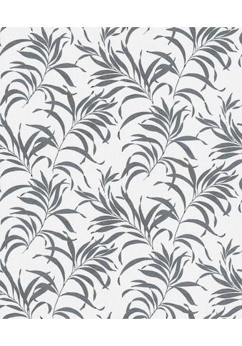 Marburg Vliestapete »weiß-grau«, floral, restlos abziehbar kaufen