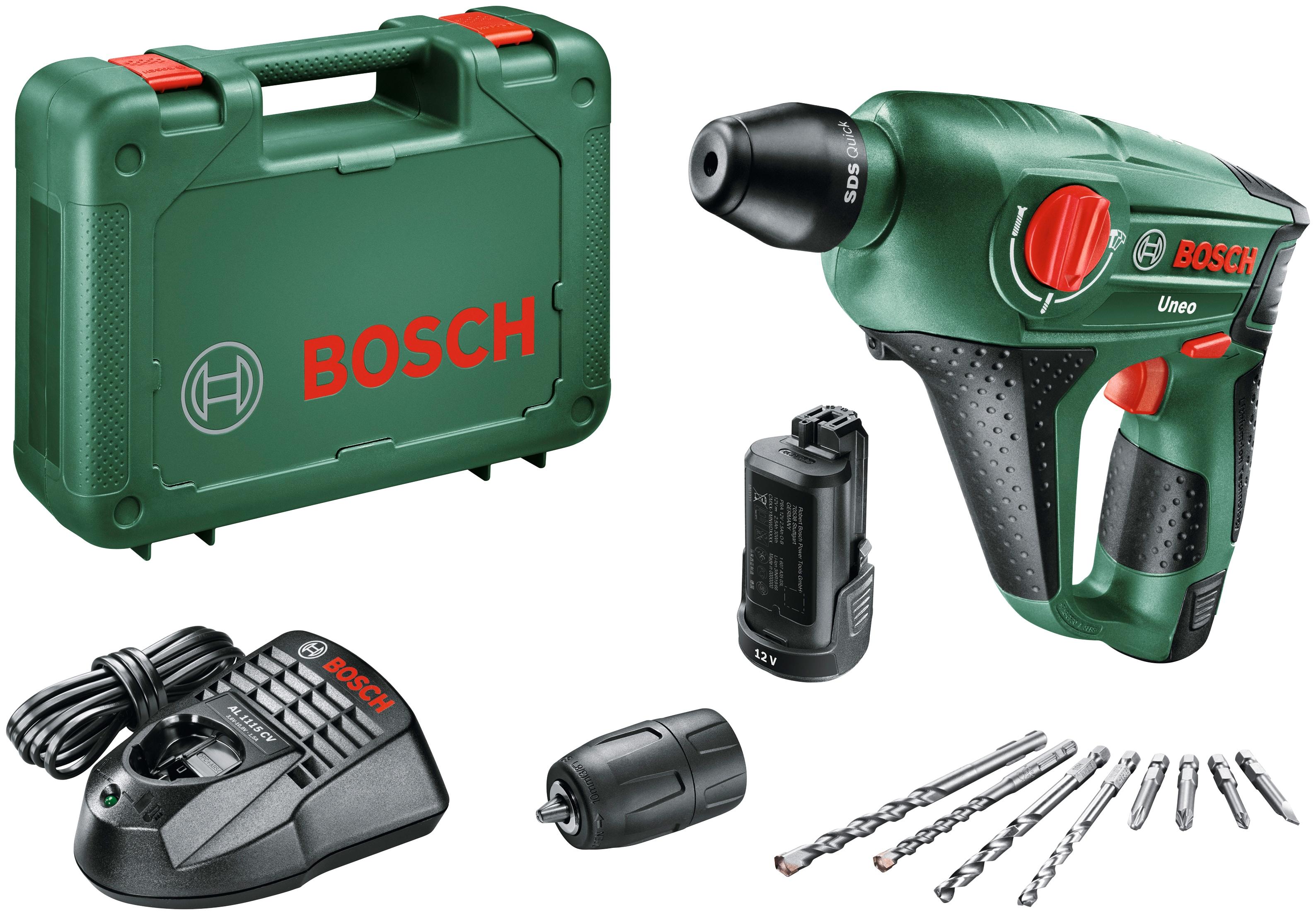 BOSCH Bohrhammer Uneo grün Bohrhämmer Werkzeug Maschinen