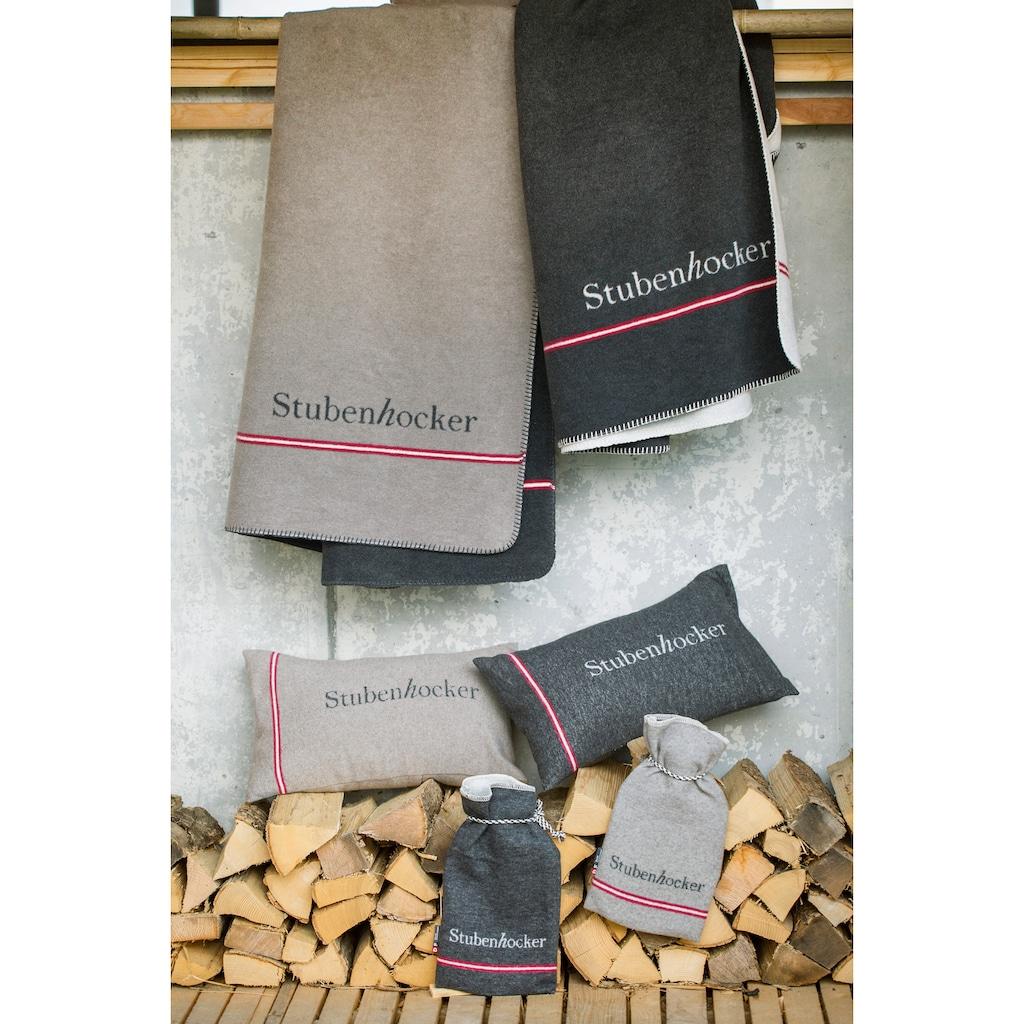 """DAVID FUSSENEGGER Wohndecke, mit Schriftzug """"Stubenhocker"""" - Made in Austria"""
