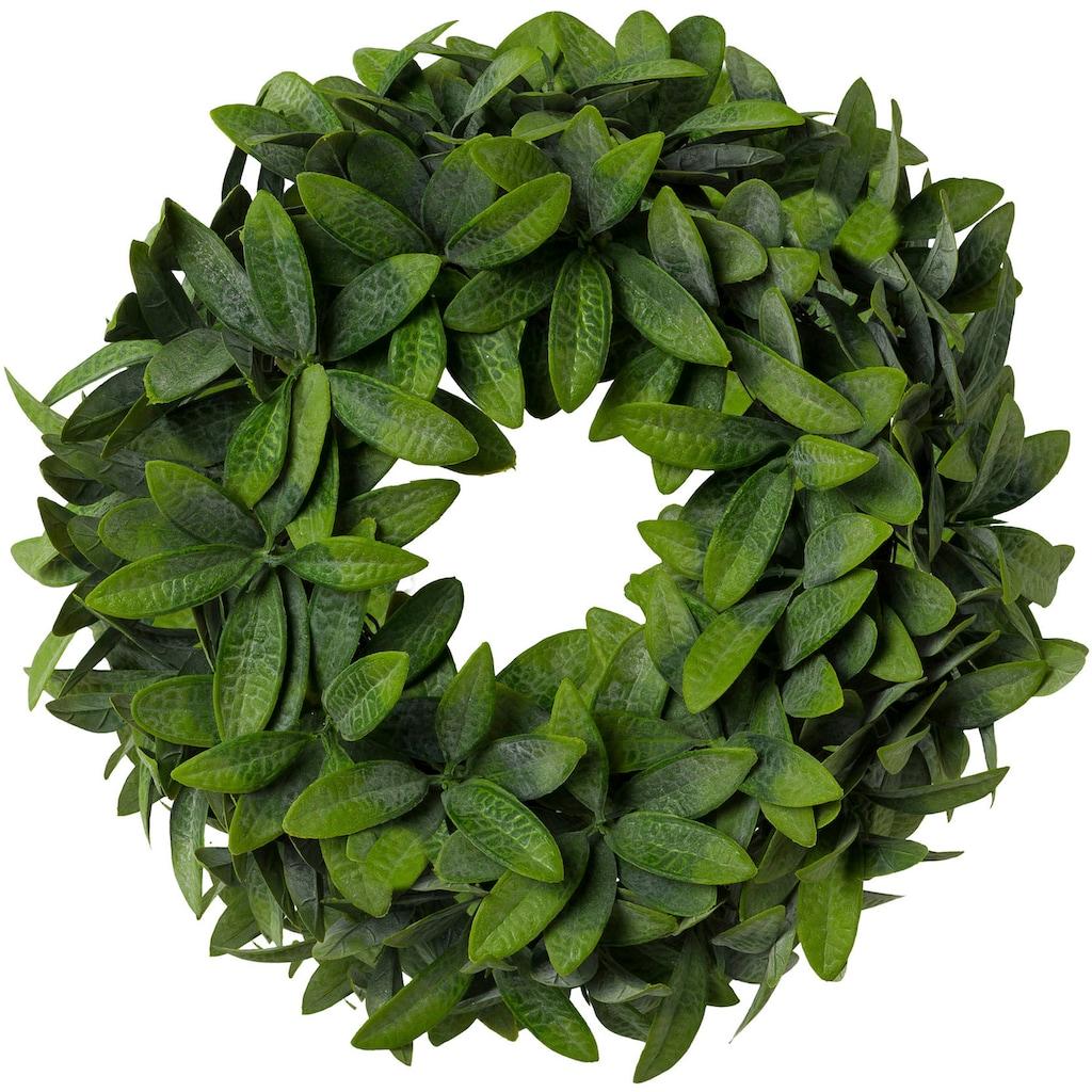 Creativ green Kunstkranz »Olivenblattkranz«, 2er Set