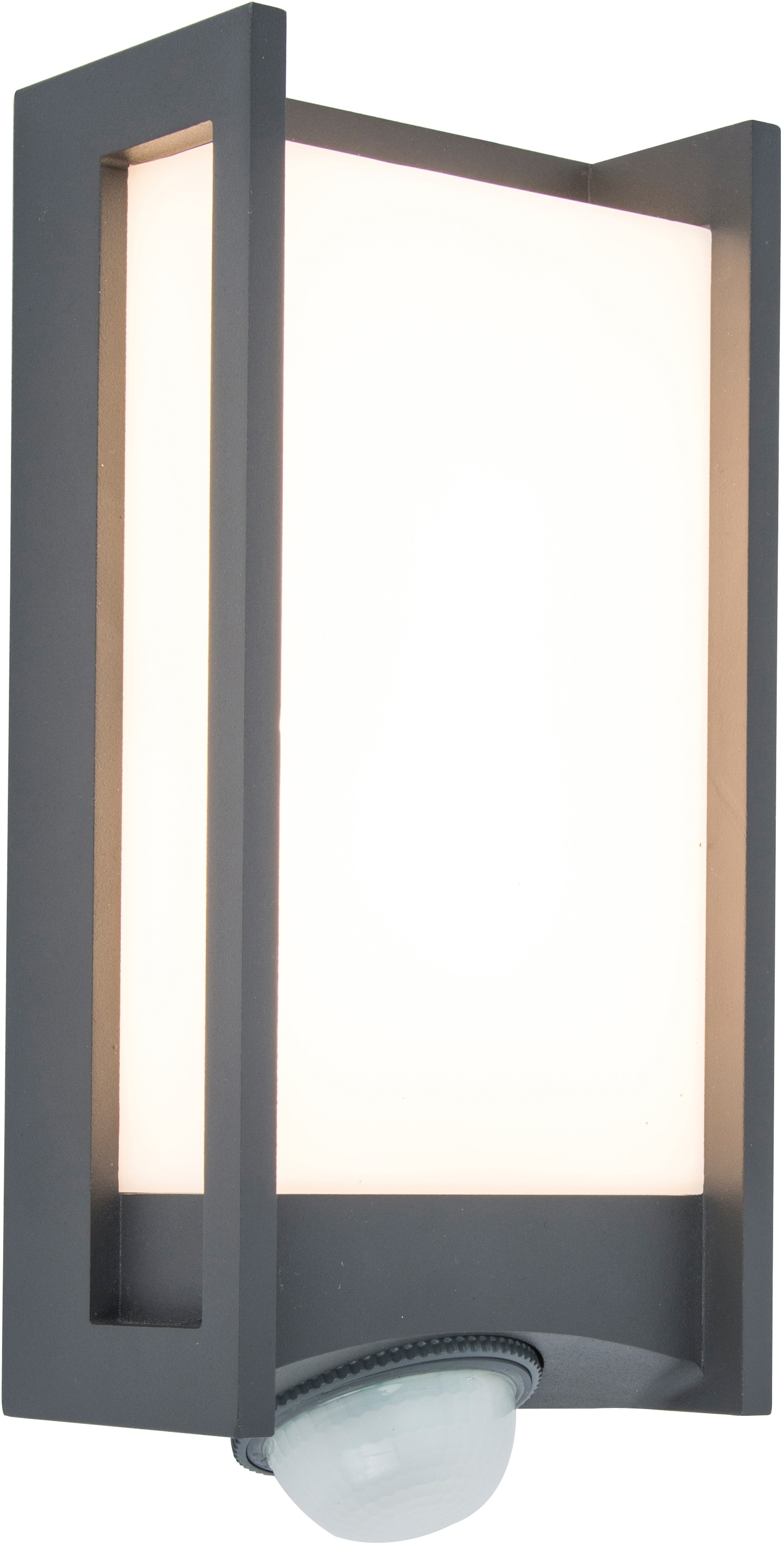 LUTEC LED Außen-Wandleuchte QUBO 5193002118, LED-Modul, 1 St., Warmweiß
