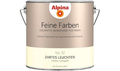 ALPINA Wand -  und Deckenfarbe »Feine Farben  -  Zartes Leuchten«, 2,5 l kaufen