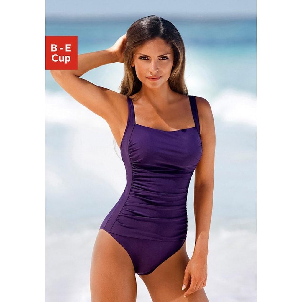 LASCANA Badeanzug, mit Raffungen