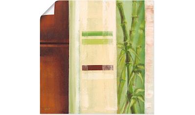 Artland Wandbild »Bambus II«, Gräser, (1 St.), in vielen Größen & Produktarten -... kaufen