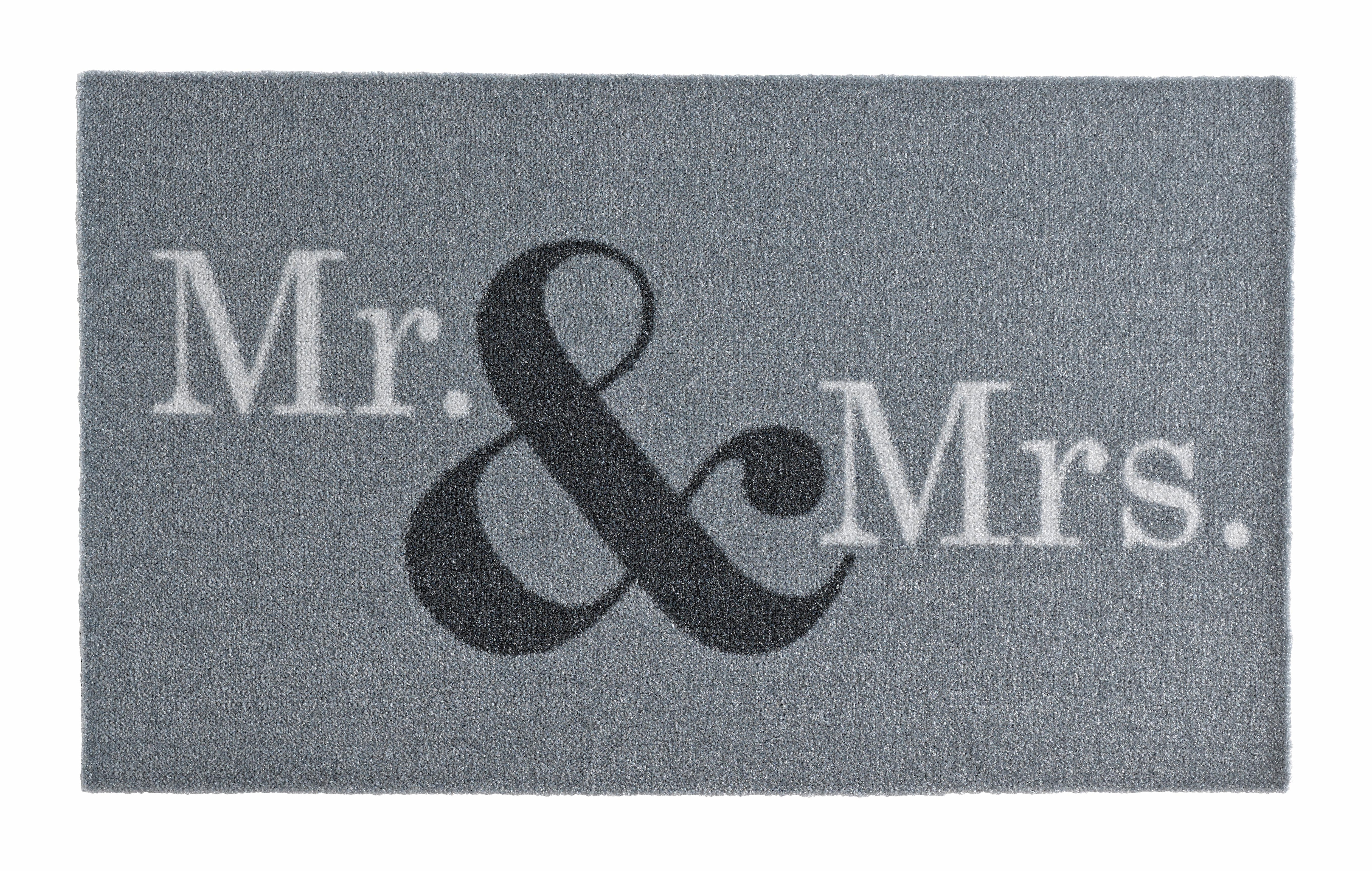 Fußmatte Mr & Mrs Zala Living rechteckig Höhe 7 mm