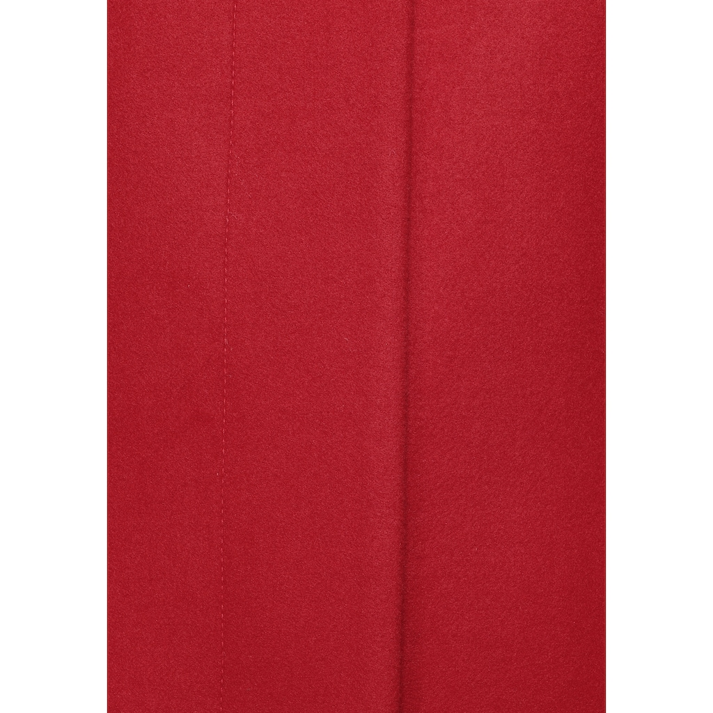 s.Oliver Kurzmantel, in gerader, cleaner Form mit hohem Stehkragen
