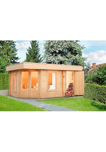 WOLFF FINNHAUS Gartenhaus »Maja 40 - B/2«, BxT: 503x349 cm, inkl. Fußboden, mit 2 Räumen kaufen