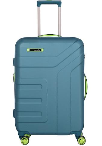 travelite Hartschalen-Trolley »Vector, 70 cm, Petrol/Limone«, 4 Rollen, Erweiterbar kaufen