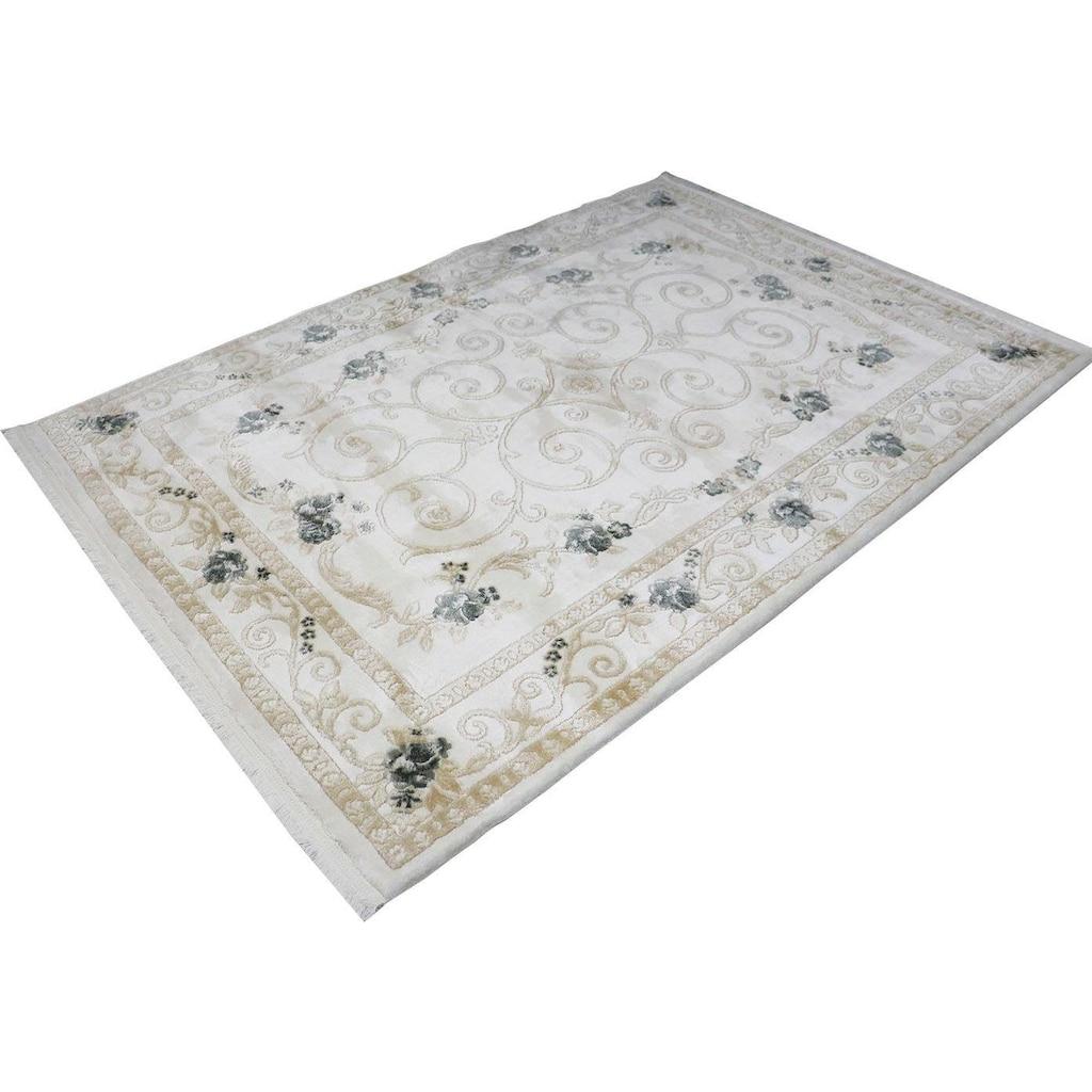 RESITAL The Voice of Carpet Teppich »Lara 360«, rechteckig, 11 mm Höhe, Kurzflor mit Hoch-Tief-Struktur, Wohnzimmer