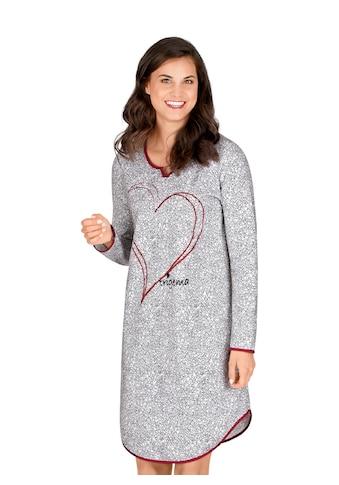Trigema Nachthemd, mit geschmackvollem Herzmotiv kaufen