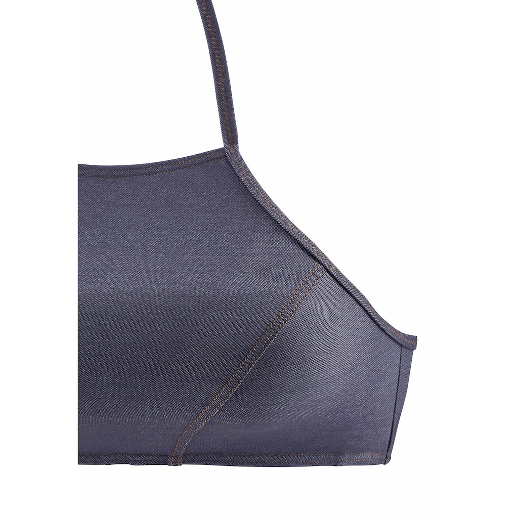 Sunseeker Bustier-Bikini-Top »Jeans«, zum Binden im Nacken