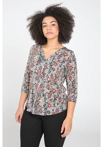 Paprika Print-Shirt »mit breitem Rundhals«, casual Naturfarbe aus Viskose kaufen