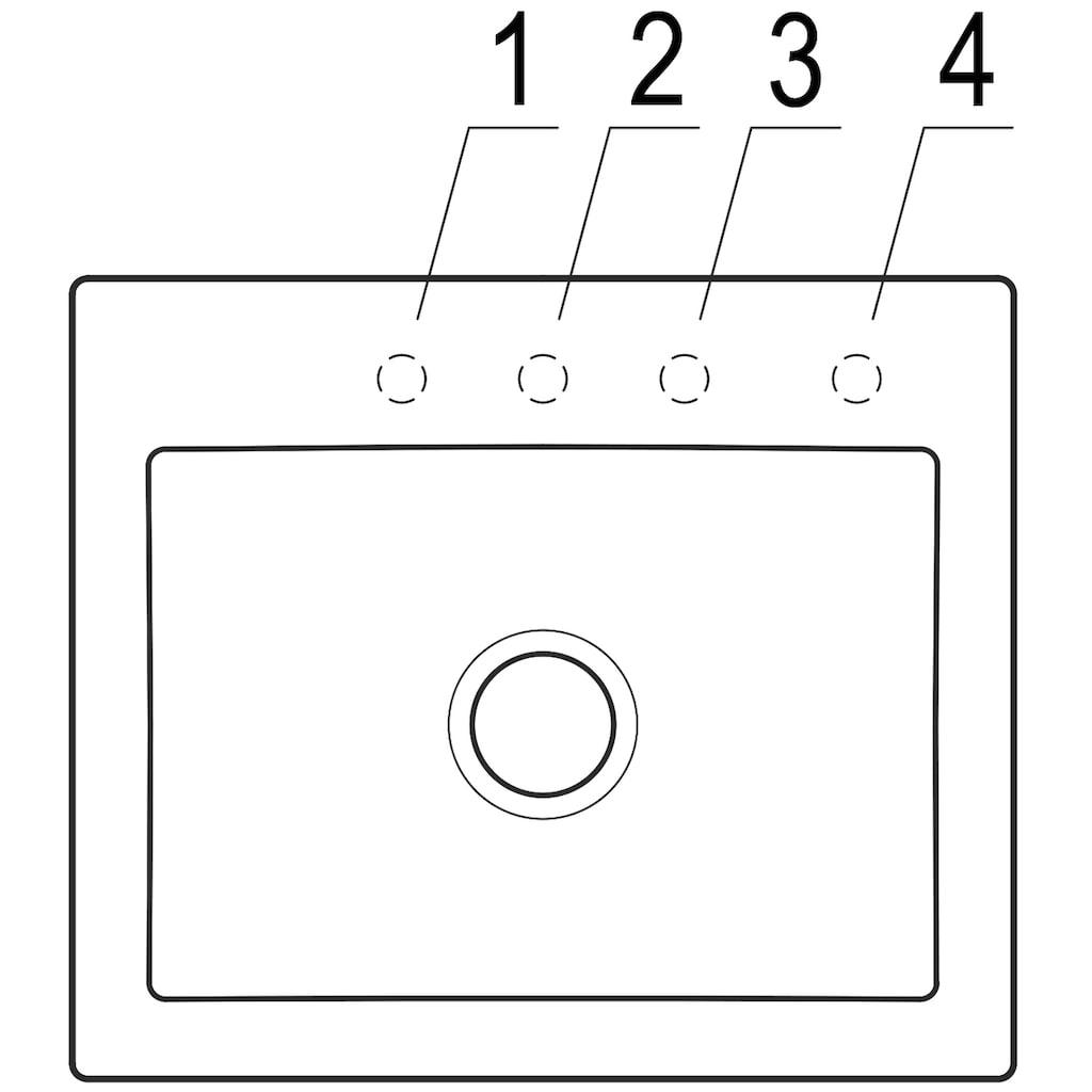 Villeroy & Boch Küchenspüle »Subway 60S«, inkl. Ablaufgarnitur mit Excenterbetätigung