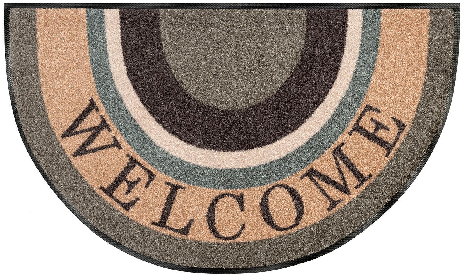 Teppich Round Welcome wash+dry by Kleen-Tex rechteckig Höhe 7 mm gedruckt