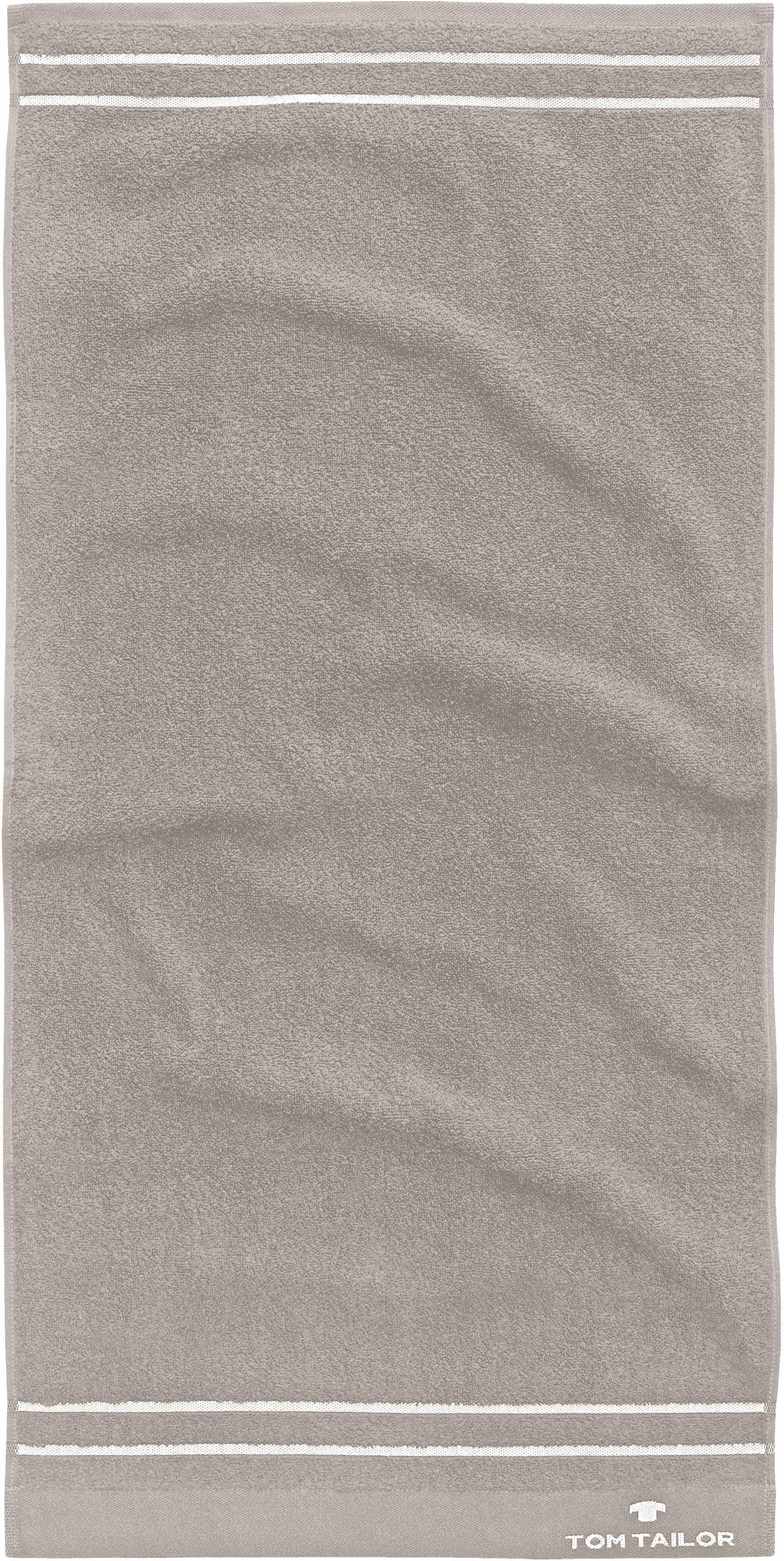 Badetuch Tom Tailor Uni Stripes mit Streifen ausgestattet