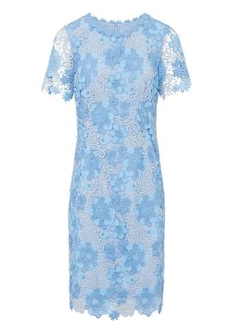 Basler Knieumspielendes Kleid mit floraler Spitze kaufen