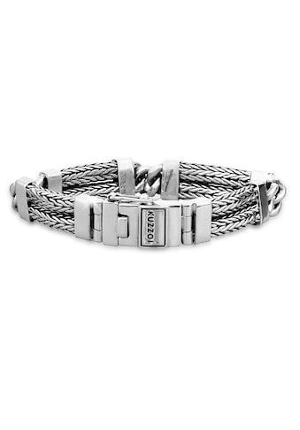 Kuzzoi Armband »Herren Panzer Gliederarmband Modern 925 Silber« kaufen
