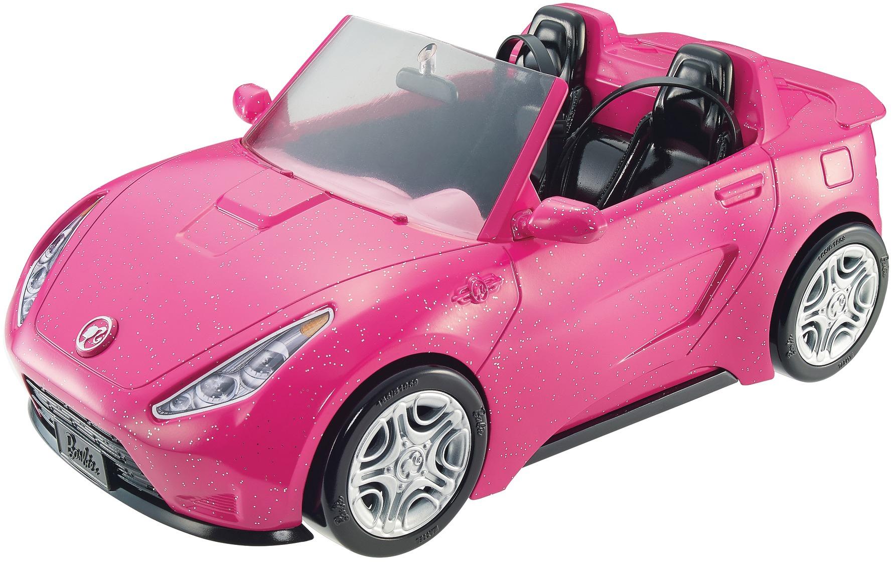 Barbie Spielzeug-Auto Glam Cabrio rosa Kinder Puppenzubehör Puppen