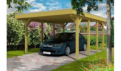 Skanholz Einzelcarport »Friesland«, Holz, 355 cm, grün kaufen