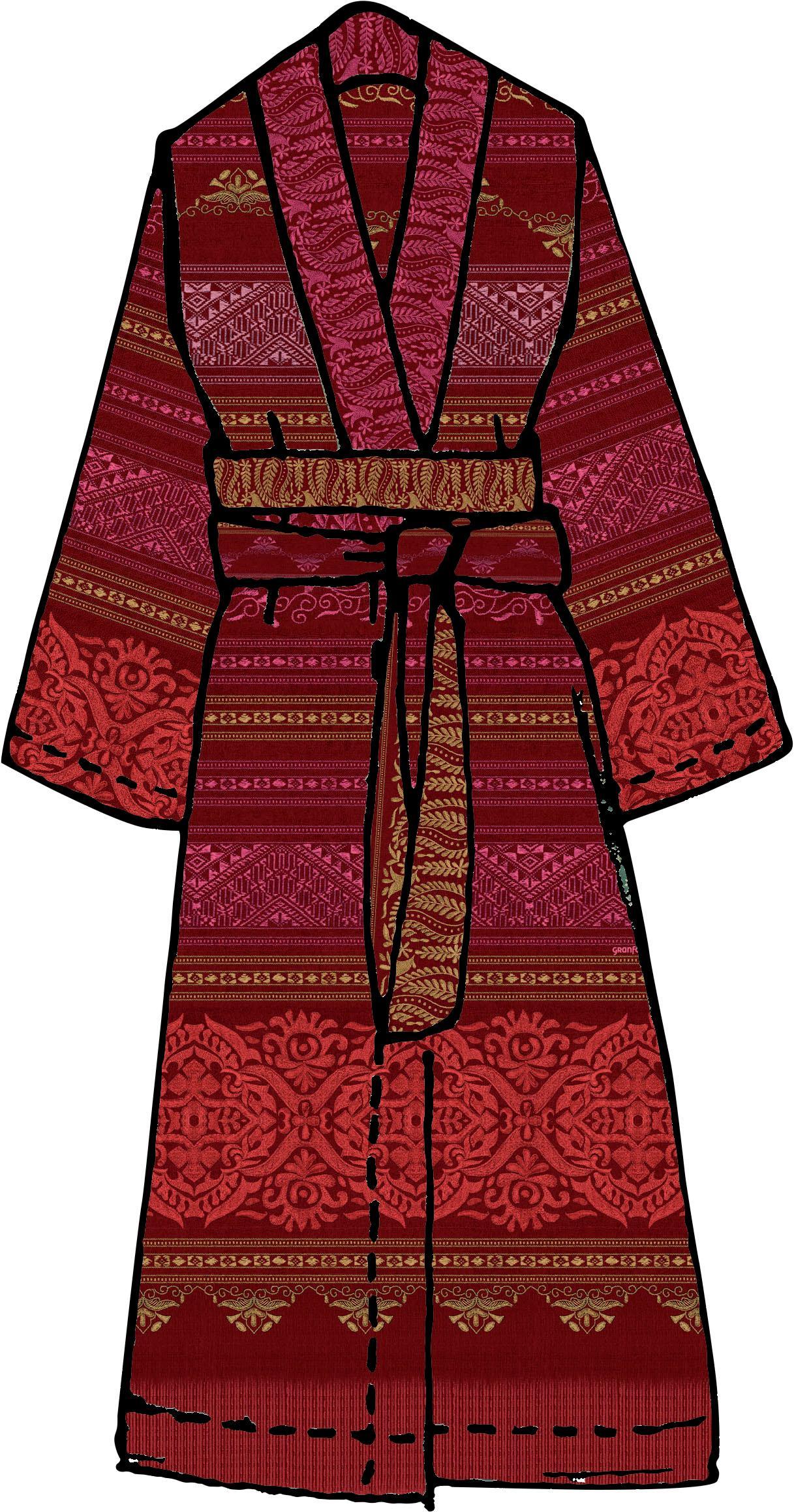 Damenbademantel Urbino Bassetti | Bekleidung > Bademode > Bademäntel | Rot | Bassetti