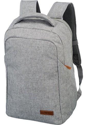 travelite Laptoprucksack »Basics Safety, Hellgrau« kaufen