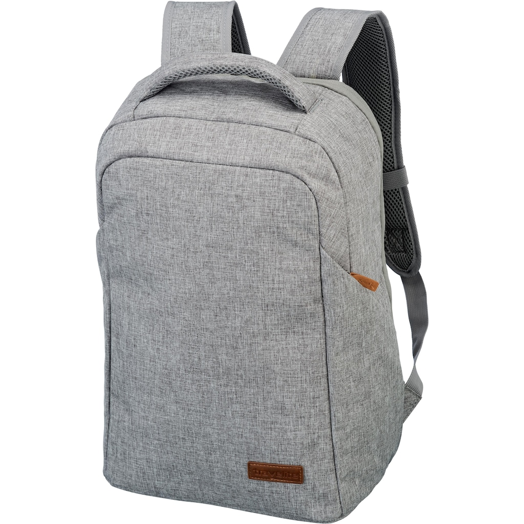 travelite Laptoprucksack »Basics Safety, Hellgrau«