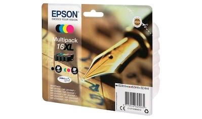 Epson »T1636, 16XL Original Kombi - Pack Schwarz, Cyan, Magenta, Gelb C13T16364012« Tintenpatrone kaufen