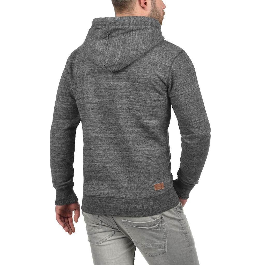 Solid Kapuzensweatjacke »Craig«, Kapuzensweatshirt mit Melange Optik