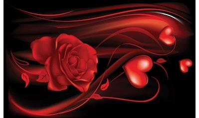 CONSALNET Fototapete »Abstrakt Rose Herz«, Vlies, in verschiedenen Größen kaufen
