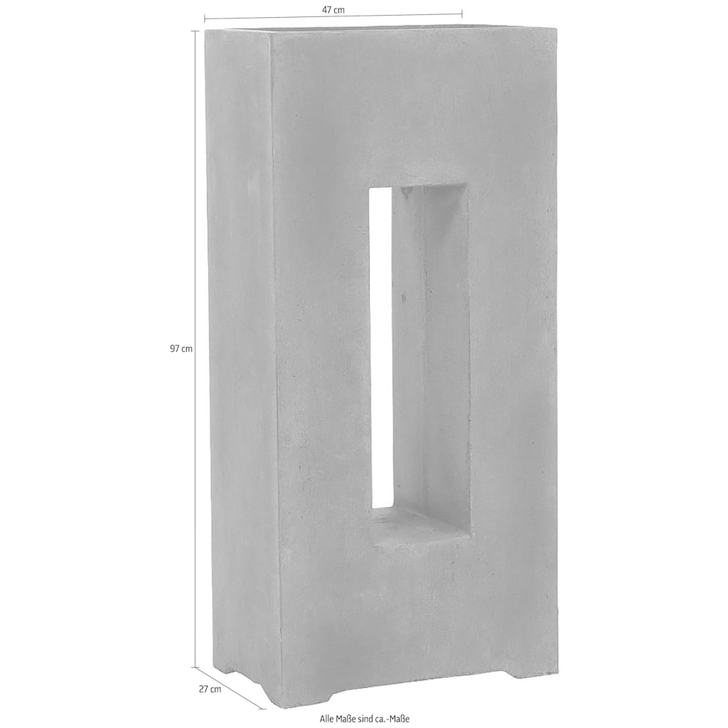 Schneider Pflanzkübel »High Divider«, Grau