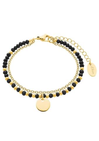 s.Oliver Armkette »Bracelet Bar, 2026183«, mit Glassteinen kaufen