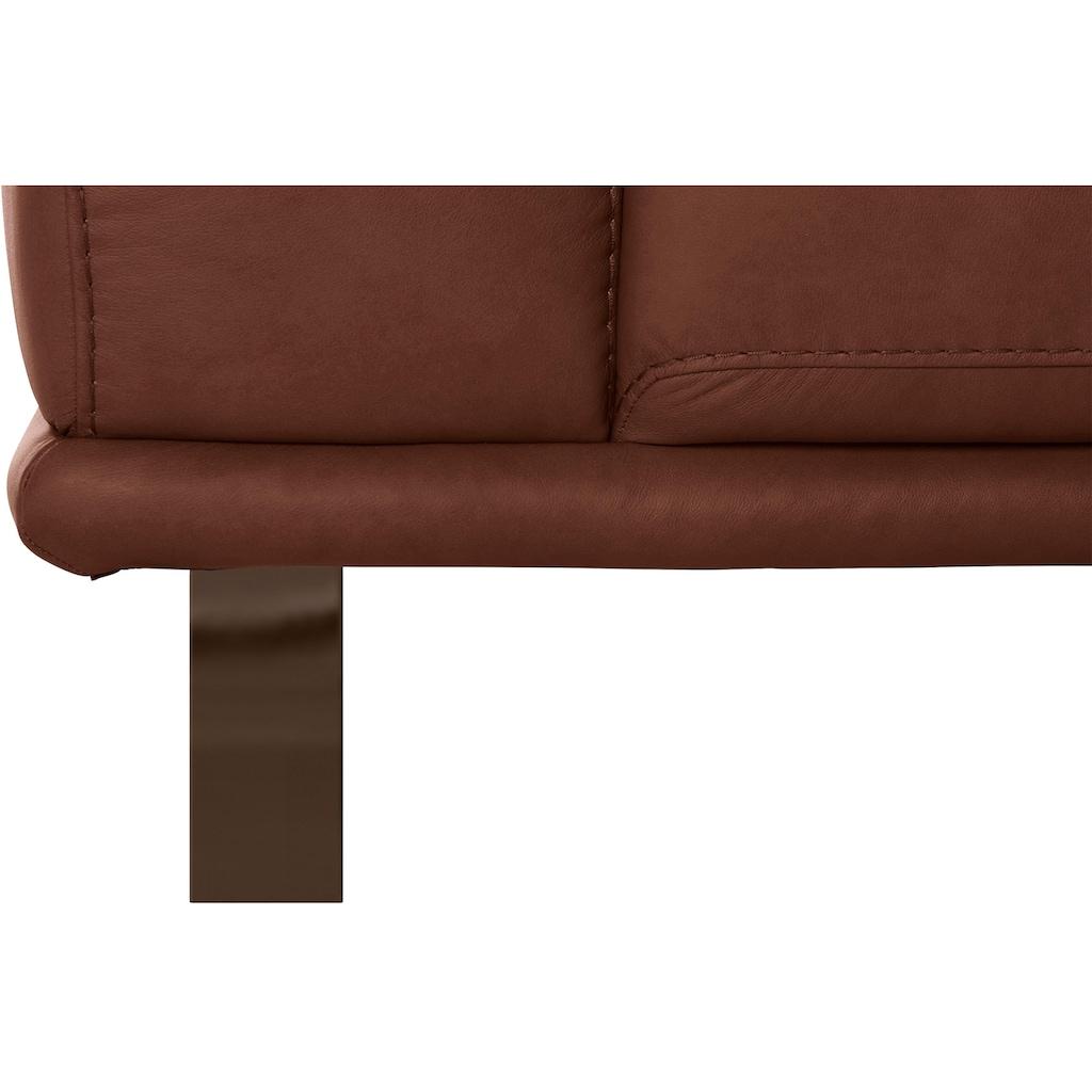 W.SCHILLIG 2-Sitzer »montanaa«, mit Metallkufen in Bronze pulverbeschichtet, Breite 192 cm