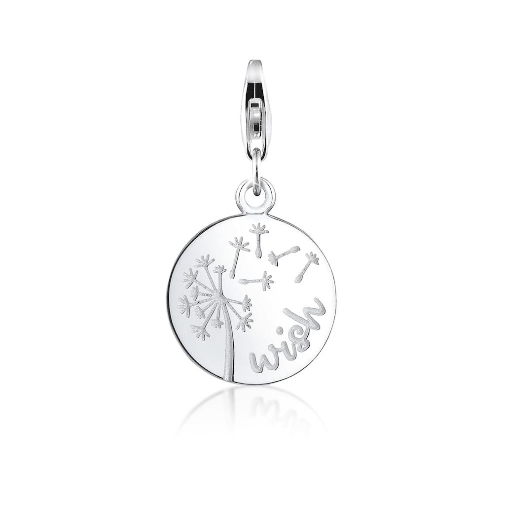 Nenalina Charm-Einhänger »Pusteblume Anhänger Rund vergoldet 925 Silber«