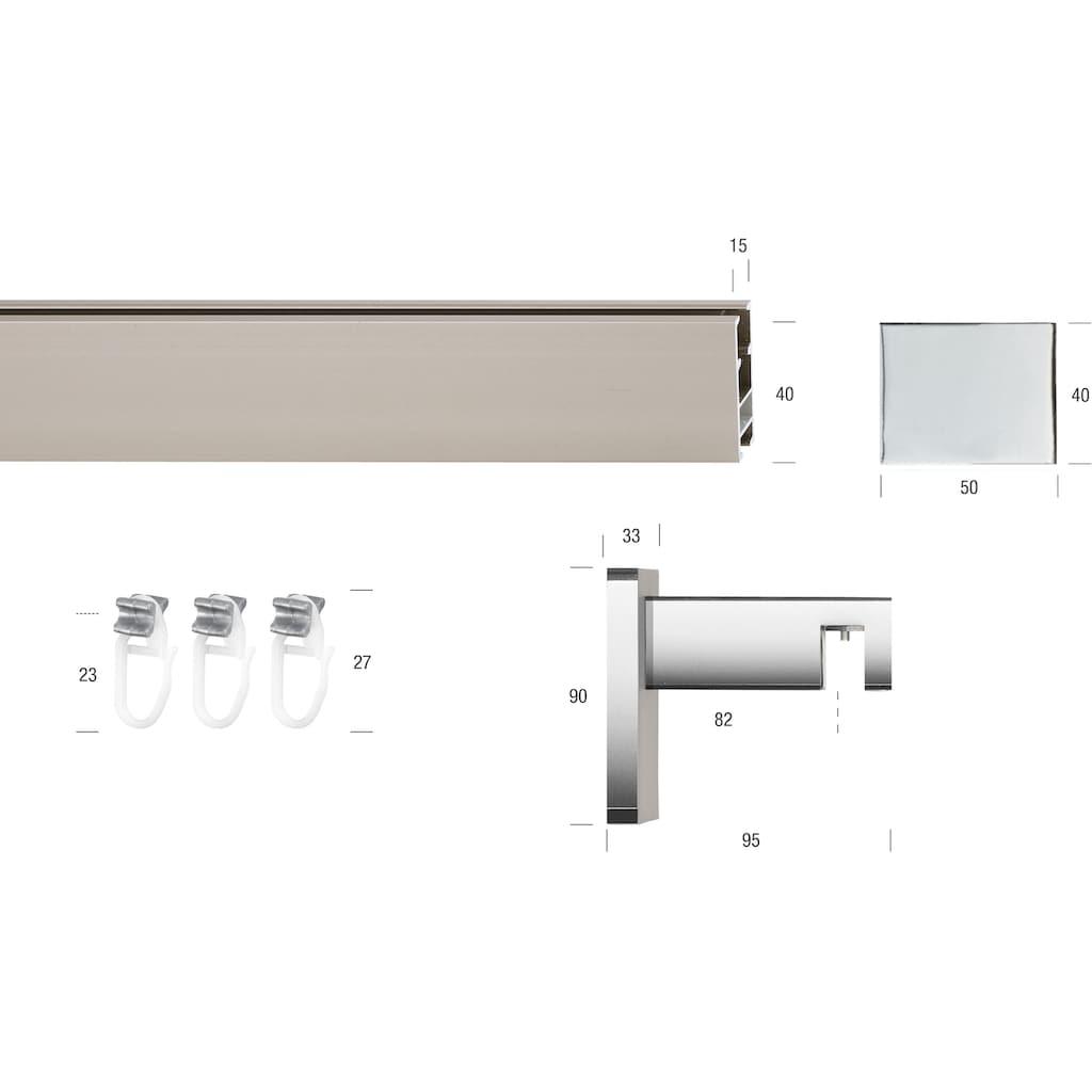 GARESA Gardinenstange »Flat«, 1 läufig-läufig, Wunschmaßlänge