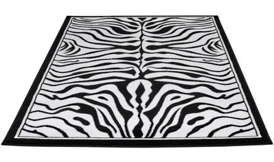 Teppich, »Safariwelt Zebra«, Living Line, rechteckig, Höhe 7 mm, maschinell gewebt kaufen