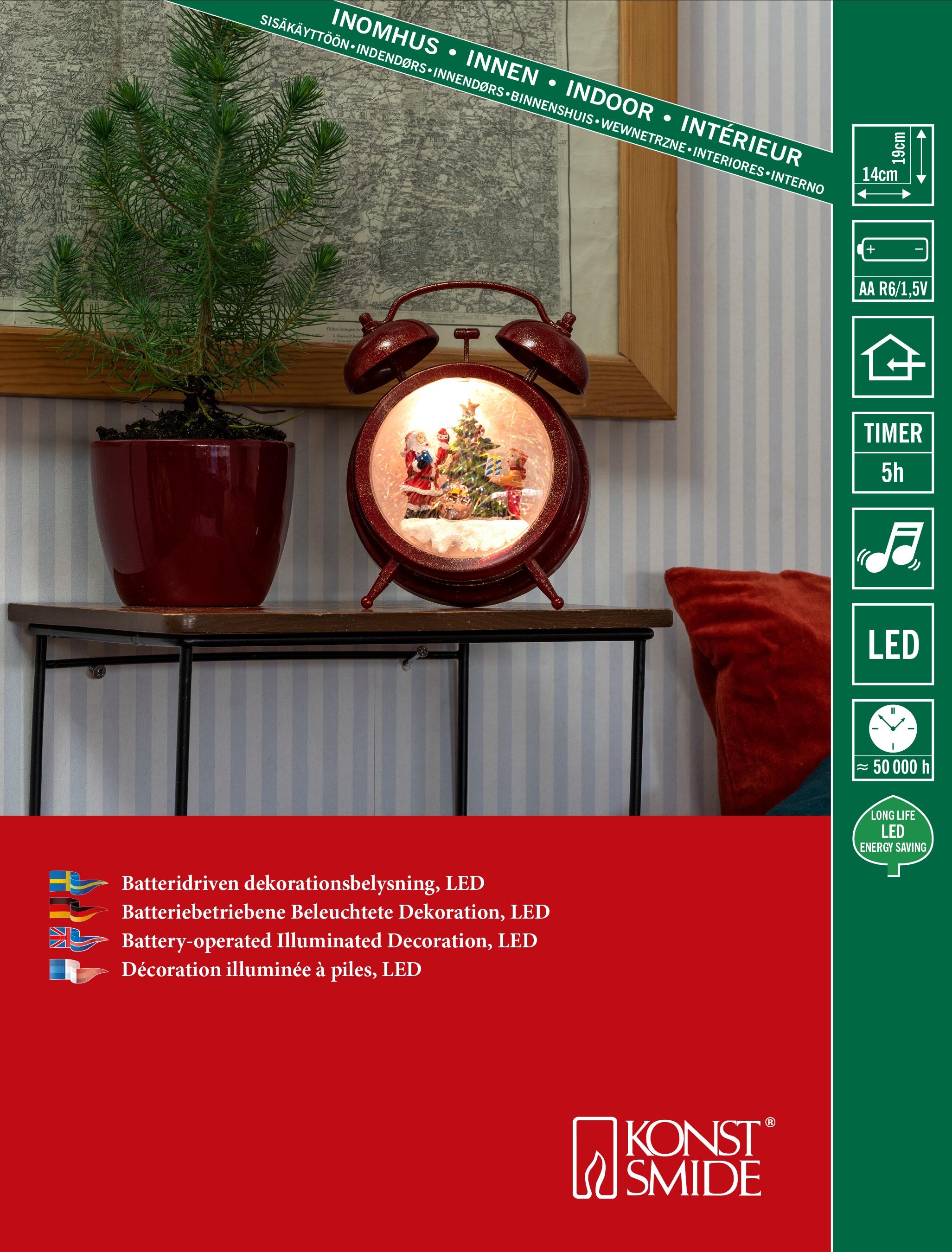 KONSTSMIDE LED Wecker wassergefüllt Wohnen/Accessoires & Leuchten/Wohnaccessoires/Wecker/Retro Wecker